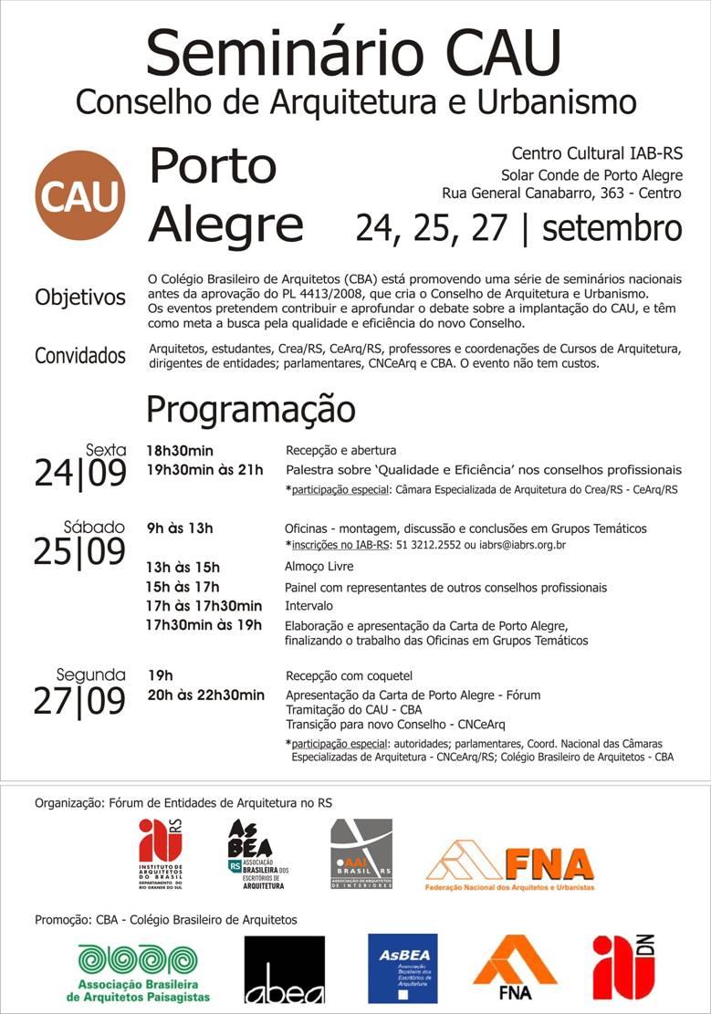 seminário CAU