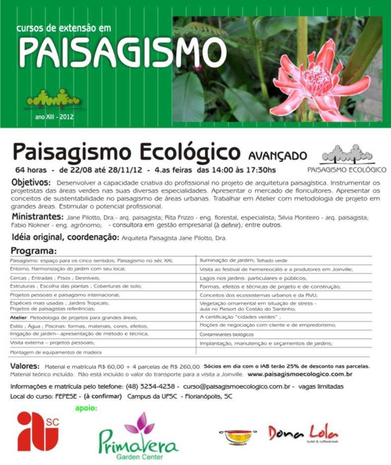 Curso de paisagismo online