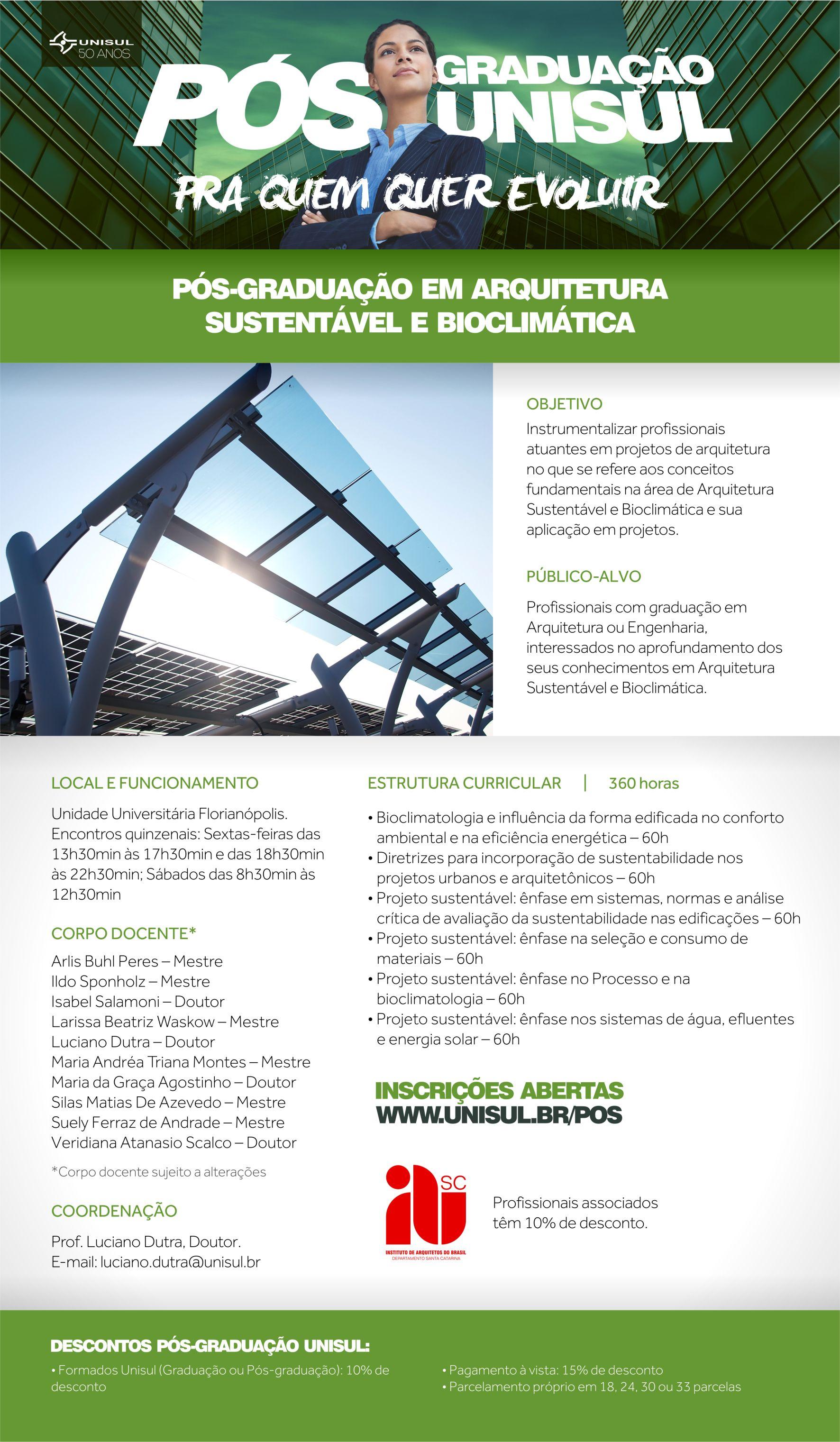 Arquitetura Sustentável e Bioclimática IAB