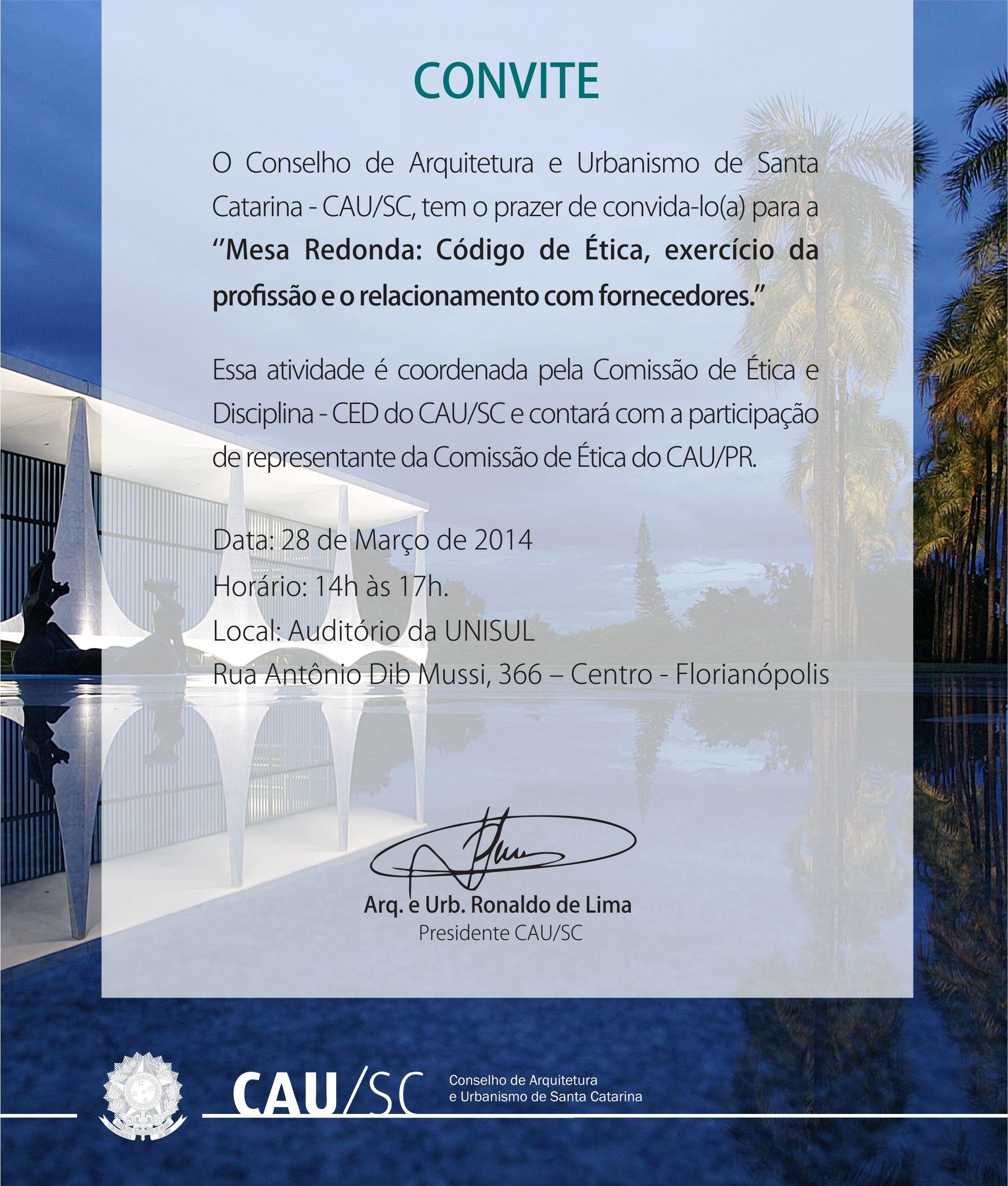 Convite Mesa Redonda CAUSC
