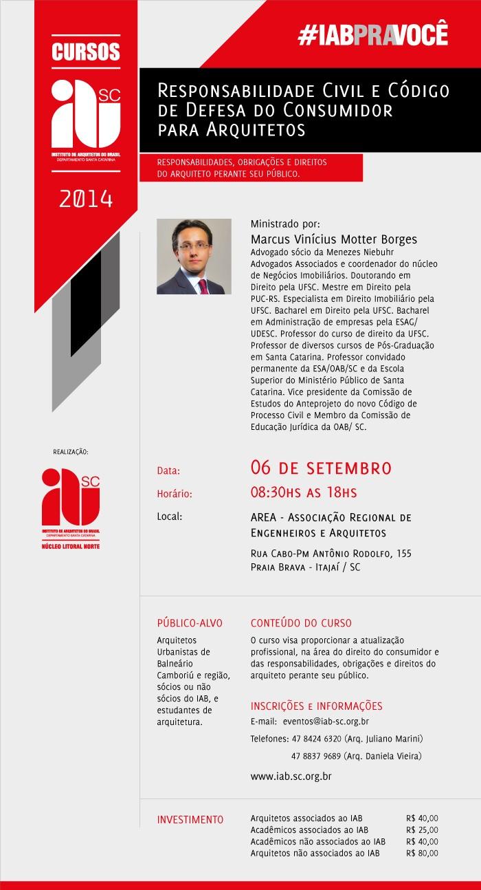 Curso de Responsabilidade Civil e CDC para Arquitetos / 06/09/2014