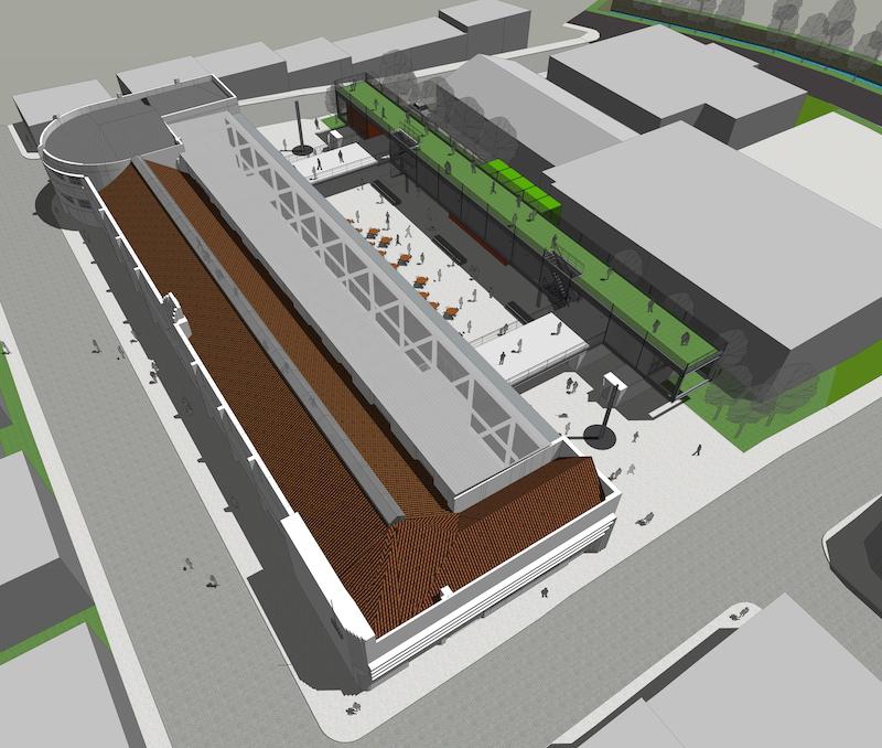 1ª Menção Honrosa Concurso Público de Arquitetura de Adequação e Requalificação do Mercado Público de Lages