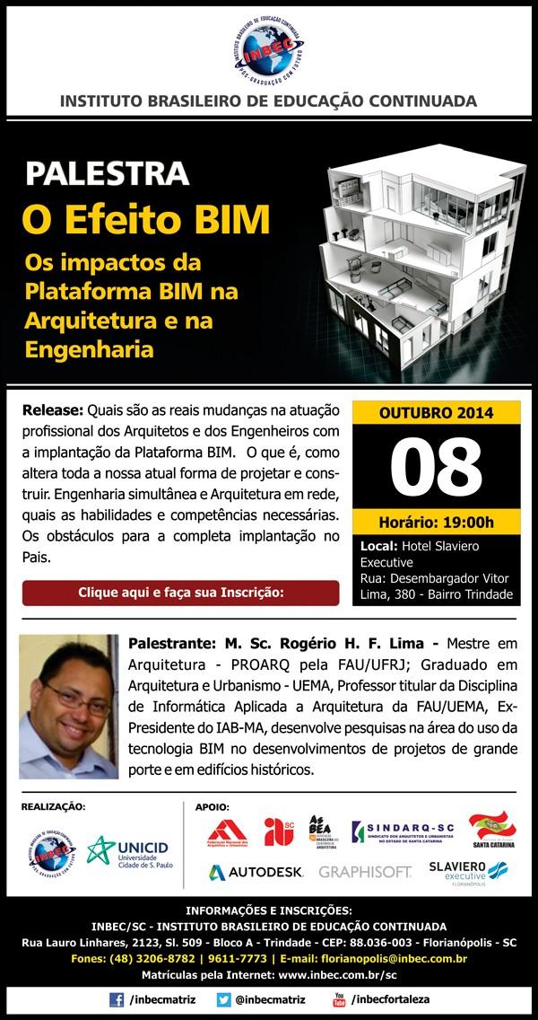 PALESTRA GRATUITA - O efeito BIM - Os impactos da Plataforma BIM na Arquitetura e Engenharia, 08/10