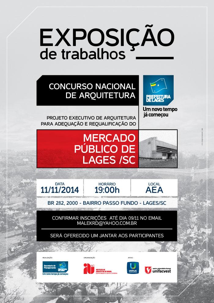 Convite - Exposição Trabalhos Concurso Mercado Público de Lages/SC