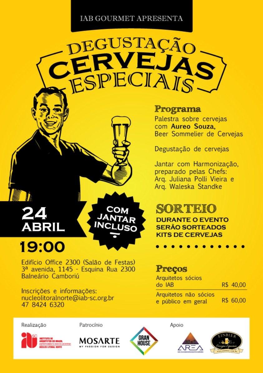 Convite: IAB Gourmet + Degustação de Cervejas - 24/04/2015