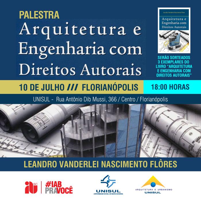"""Palestra """"Direitos Autorais na Arquitetura e Urbanismo"""""""