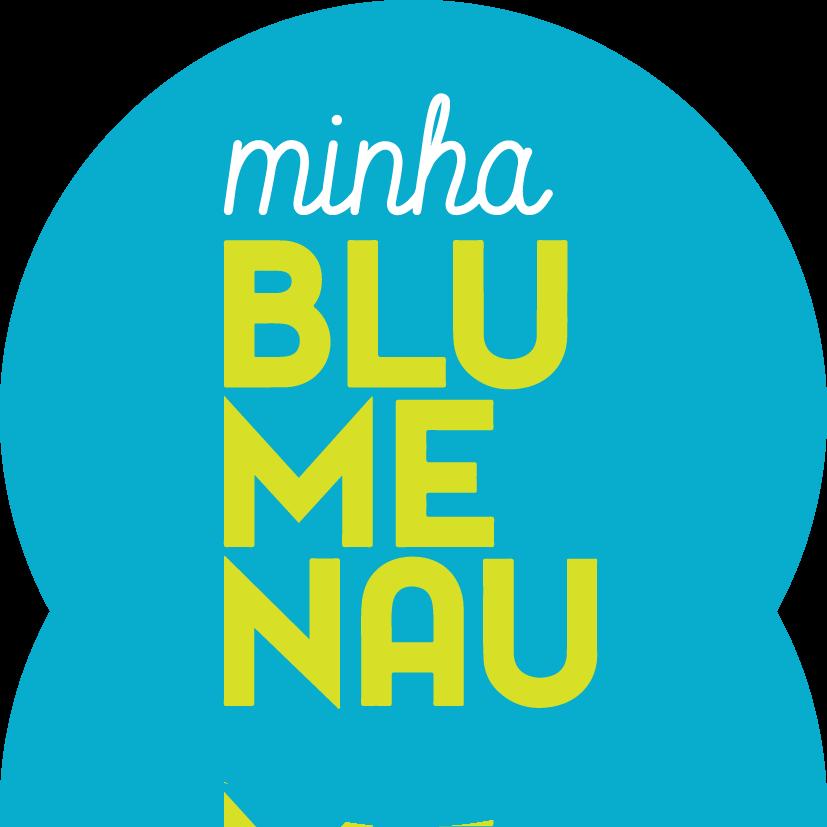 0018 Minha Blumenau Adesivo 7x7 - Azul