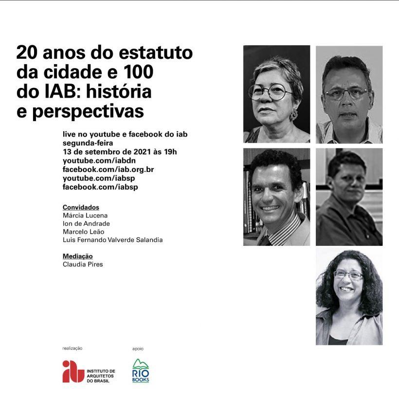 20 anos do Estatuto das Cidades e o centenário do IAB - 2021 09 13
